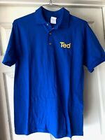 "United Airlines New & Vintage Blue ""Ted"" medium polo shirt - collectible/rare"