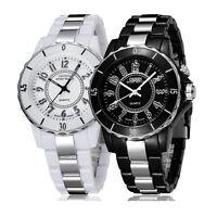 OHSEN FG0736 Mens Classic LED Backlight Stainless Steel Sport Quartz Wrist Watch