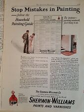 1924 Sherwin-Williams Paint Varnish Stop Mistakes in Painting Original Ad