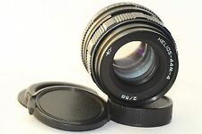 HELIOS 44M-4 2/58mm Soviet SLR Lens Pentax Zenit M42 + Adapter for Сanon Excelle