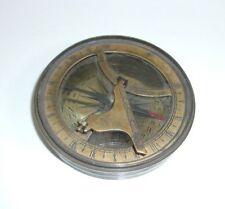 Vintage Brass Maritime Marine Sundial Compass T*