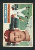 1956 Topps #114 Jim Owens VGEX Phillies 85444