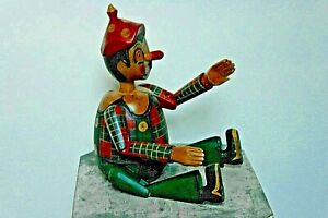 """NICE HAND CARVED MONEY SEVING PINOCCHIO 16"""" X 10"""" INCHES WIDE"""