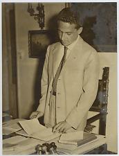 Italia, Avvocato Paolo Balbo, figlio di Italo Balbo  Vintage silver print Tira