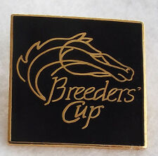1980'S ERA BREEDERS' CUP HORSE RACING LAPEL PIN! BLACK & GOLD!
