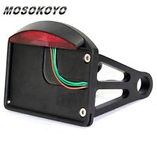 """Side Mount License Plate LED Tail light Fit Harley Davidson 3/4"""" or 1"""" Rear Axle"""