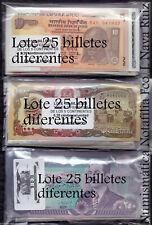 B-D-M Lote 25 Billetes diferentes del Mundo SC UNC