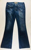 Hippie Women's Jeans Size 28 Boot Cut Stretch Dark Wash