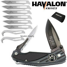 Havalon Knives Bone Collector Rebel Folding Field Knife + Blades + Gut Hook BCB