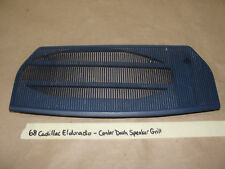 1968 68 Cadillac Eldorado CENTER DASH SPEAKER GRILL GRILLE TRIM COVER #1486414