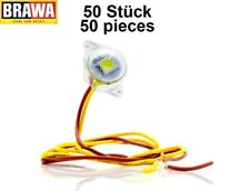 Brawa 94705 Beleuchtungssockel neonweiß mit LED (50 Stück) - NEU + OVP