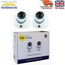 New Yale Smart Living HD720 Indoor Dome Camera With Night Vision Twin Pack