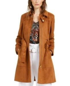 MSRP $150 I.n.c. Faux-Suede Trench Coat Brown Size XL