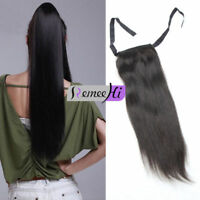 "16""-22"" String Clip-in High Ponytail 100% Remy Human Hair Extension 80g 100g120g"