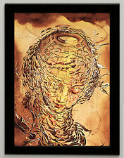 Salvador Dali Raphael's head giclee 8.3X11.7 canvas print framed reproduction