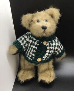 """Hugfun 8"""" Costco Collectible Stuffed Teddy Bear With Winter Sweater 1998"""