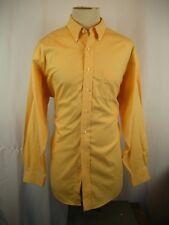 "Mens Brooks Bros ""346"" Yellow Pinpt. Cotton NoIron LS Casual Shirt sz 17.5-34/35"