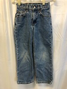 LEVI'S 550 Jeans - Boys Size 8 Slim - 22X22 - Relaxed Fit Light Wash Denim
