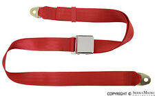 Seat Belt, 2 Point, Flame Red, Porsche 356/911/912, 1800-74, Reproduction