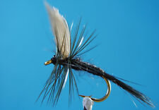 36 X ASSORTED DRY FLIES TROUT &GRAYLING - KLINKHAMMERS & PARACHUTE FISHING FLYS