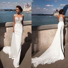Black White Ivory lace Bridal Gown Wedding Dress Size 8 10 12 14 16 18 20 22-24