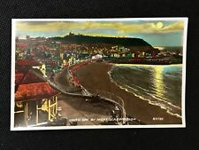 RP Postcard Unposted Scarborough South Bay at Night H9785 - RF1 PCBOX1