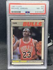 1987 Fleer Michael Jordan  #59 PSA 8 🐐Sharp! In a Brand New Holder!