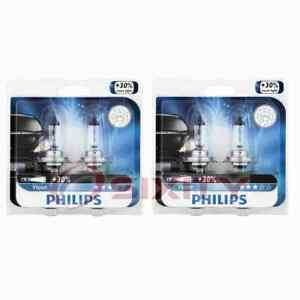 2 pc Philips High Beam Headlight Bulbs for Smart Forfour Fortwo Roadster cy