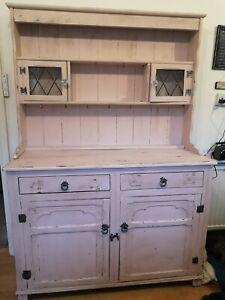 Vintage Pink Welsh Dresser