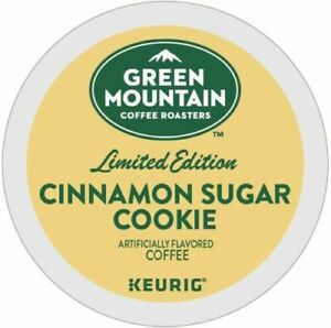 Green Mountain Cinnamon Sugar Cookie Coffee 24 to 144 Keurig Kcup Pick Quantity