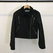 OPENING CEREMONY BLACK STRABLER JACKET PERFECTO MOTO RACER MADE IN USA S