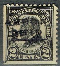 1923 2c Harding (610-L-7E) with precancel Error f/ Akron Oh. Reads Oh1O. Scarce!