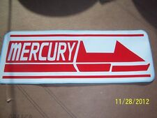 "3"" X 8"" MERCURY Sticker (RED and WHITE)....(NEW Vinyl)"