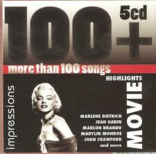MOVIE HIGHLIGHTS 100+ SONGS, 5 CD BOX SET OVER THE RAINBOW, SOUND OF MUSIC +MORE