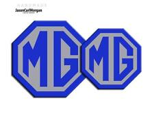 MG TF 2009> New Emblem Badge Inserts Front Rear 70mm 90mm Blue Silver Badges