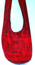 SAC BANDOULIERE ETHNIQUE MAIN BABA COOL BESACE SHOULDER BAG ETHNIC ROUGE RED