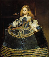 Beautiful Oil painting Diego Velazquez - Infanta Margarita Young beauty