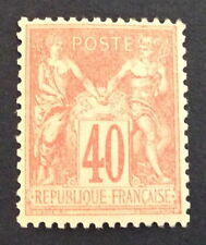 timbre france, n°94, 40c orange type sage, xx, TBC, cote 175€+ 50% signe calves