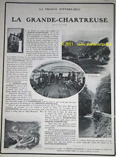 PUBLICITE REDACTIONNEL LA GRANDE CHARTREUSE DISTILLERIE DOCUMENT 1907 ALCOOL  AD