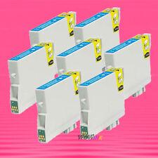 5P NON-OEM CYAN INK alternative for EPSON T044220 T0442 Stylus CX6400 CX6600