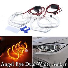 LED Angel Eye DTM Style LED Kit Halo Ring Amber White For BMW E90 2006-2010 E92