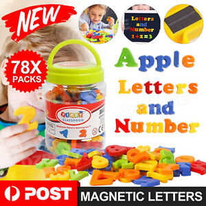 Magnetic Letters Numbers Alphabet Magnets Colorful Plastic Educational Toy Set