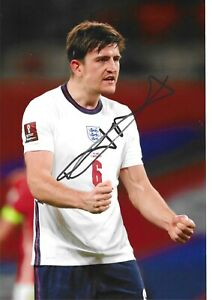 STUNNING HARRY MAGUIRE SIGNED ENGLAND 12x8 GLOSSY PHOTO
