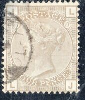 Great Britain Sc# 84 Used Plate 17 VF (b)