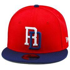 "New Era 2017 WBC Dominican Republic ""DR"" Snapback Hat Cap RED/DARK ROYAL"