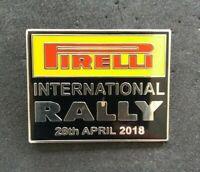 PIRELLI INTERNATIONAL RALLY CAR CHAMPIONSHIP 2018 WRC ENAMEL BADGE