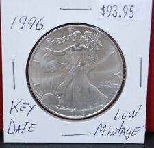 1996 Key Date Silver American Eagle BU 1 oz. Coin US $1 Dollar Uncirculated Mint