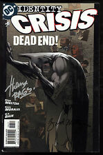 Identity Crisis (2004) #6 First Printing Signed by Metzer & Morales Superman Fn
