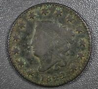 1822 Large Cent Liberty Matron Head - F Fine