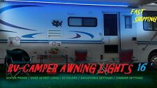 16 foot Camper Awning Lights 44 key Remote control MULTI COLOR led Jayco